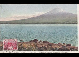 Japan post card Mt. Fuji