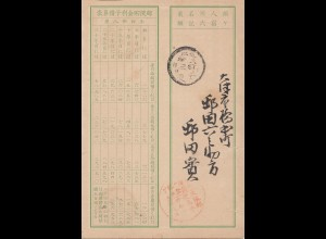 Japan cover of an old saving book - Postsparbuch um den I. Weltkrieg