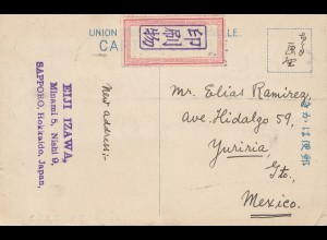 Japan 1906: post card Sapporo, Hokkaido, to Mexico