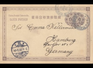 Japan: 1901: post card Yokohama to Hamburg