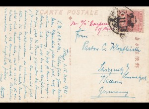 Japan: 1916: post card Nikko to Stiegnitz