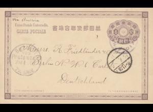 Japan 1901 Tokyo post card to Berlin