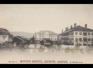 Japan 1928: post card Kyoto Hotel to Shanghai