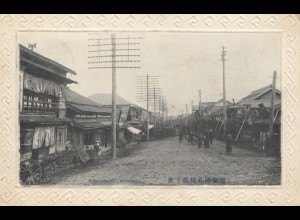 Japan 1909: post card Tokyo/Muroran to Plauen