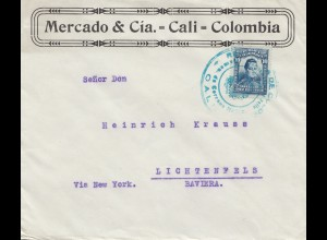 Colombia Cali to Lichtenfels via New York