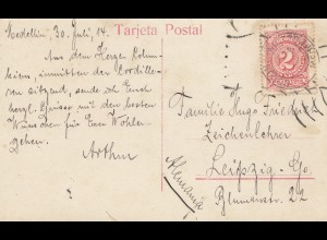 Colombia 1914: post card Medellin to Leipzig