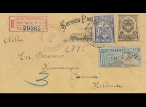 Colombia 1903: Registered New York to Krimmingen/Holland
