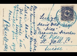 Colombia 1928: post card Barranquilla to St. Gallen