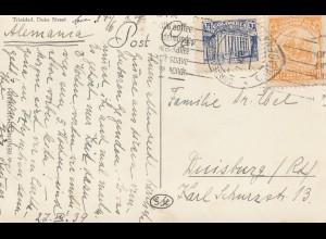 Colombia 1939: post card Cartagena to Duisburg