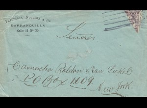 Colombia 1924: letter Barranquilla to New York