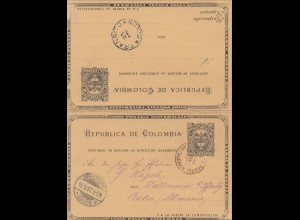 Colombia 1897: Cartagena to Offenbach, Q/A post card