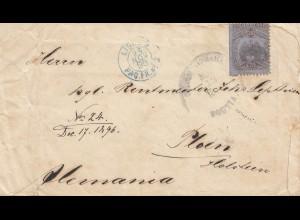 Colombia 1896: letter Bototta to Ploen/Holstein