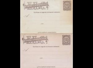 Colombia 2x post card unused