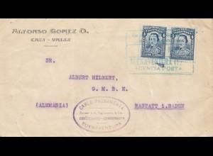 Colombia 1929: Cali-Valle to Rastatt - Buenaventura
