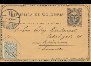 Colombia 1903: post card to Kopenhagen /Denmark