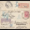 Colombia 1908: Registered Cali via New York to Friedenau/Berlin