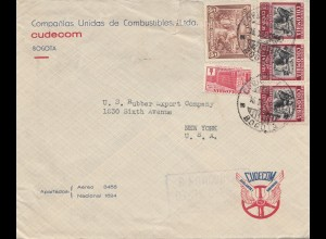 Colombia letter air mail Bobota to New York