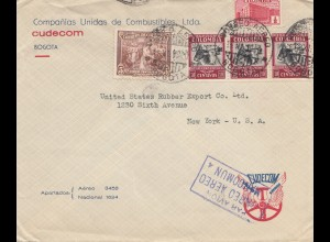 Colombia 1940: Bogota to New York - air mail, Royal pneu