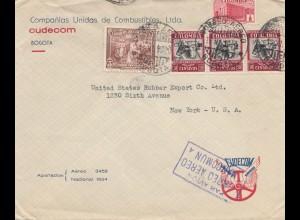 Colombia 1940: Bogota to New York - air mail, Royal pneu