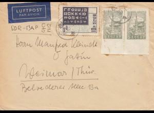 Korea 1959: air mail Hamburg to DDR - Weimar