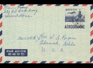 Korea air mail Seoul to USA