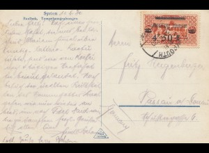 Libanon 1930: Syrien Baalbek, Tempelausgrabungen to Passau