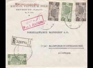 Libanon: 1954: Beyrouth to Waldershof, registered