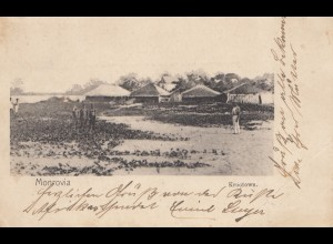 Liberia: post card Monrovia/Krootown to Paderborn 1902