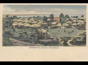 Liberia: 1907: post card Monrovia - Deutsche Seepost - to Germany
