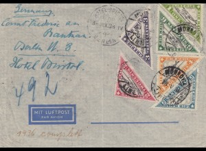 Liberia: 1938: Monrovia to Hotel Bristol in Berlin