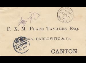 Macau 1911: letter to Canton