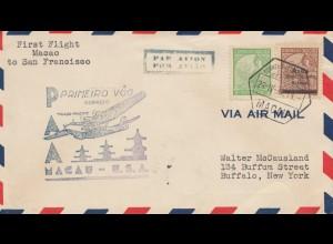 Macau 1937: air Mail First Flight to San Francisco - to Buffalo/New York