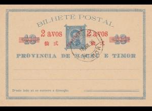 Macau post card 1895 Timor - unused