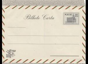 Macau Bilhete Carta, unused