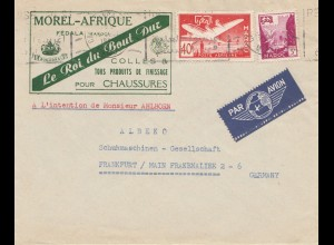 Maroc 1958: air mail Casablanca to Frankfurt, shoes, Schuhe, chassures