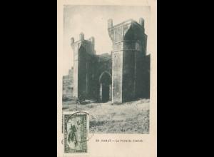 Maroc 1901: post card Rabat to Offenbach, Tax