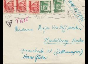 Maroc 1951: Marrakkech-Medin to Heidelberg, Tax