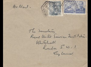 Maroc 1947: Tanger by air mail to Whitehall, London