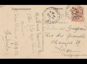Maroc 1923: post card Casablanca to Liege/Belgium