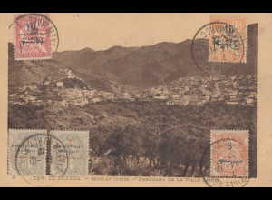 Maroc 1922: post card Panorama de la ville Sainte to Praque