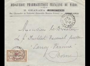 Maroc 1923: Casablanca to Berne, Drguerie, Pharamceutique Francaise