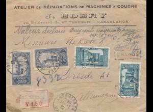 Maroc 1927: Casablanca registered to Karlsruhe - Dresden