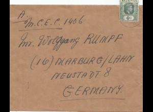 Mauritius: letter to Marburg