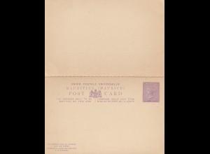 Mauritius: post card P11, ununsed