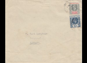 Mauritius: 1932: letter to Cursdorf