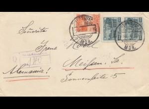 Mexico 1933: Cuernavaca, registered, to Meißen/Germany