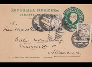Mexico 1920: post card to Berlin-Wilmersdorf
