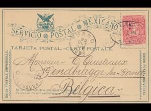 Mexico 1896: post card Merida de Jucatav to Belgium /Gand