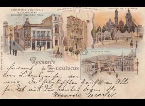 Mexico 1899: post card Zacatecas to Vilshofen