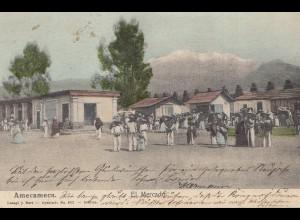 Mexico 1914: post card Amecameca to Freiburg